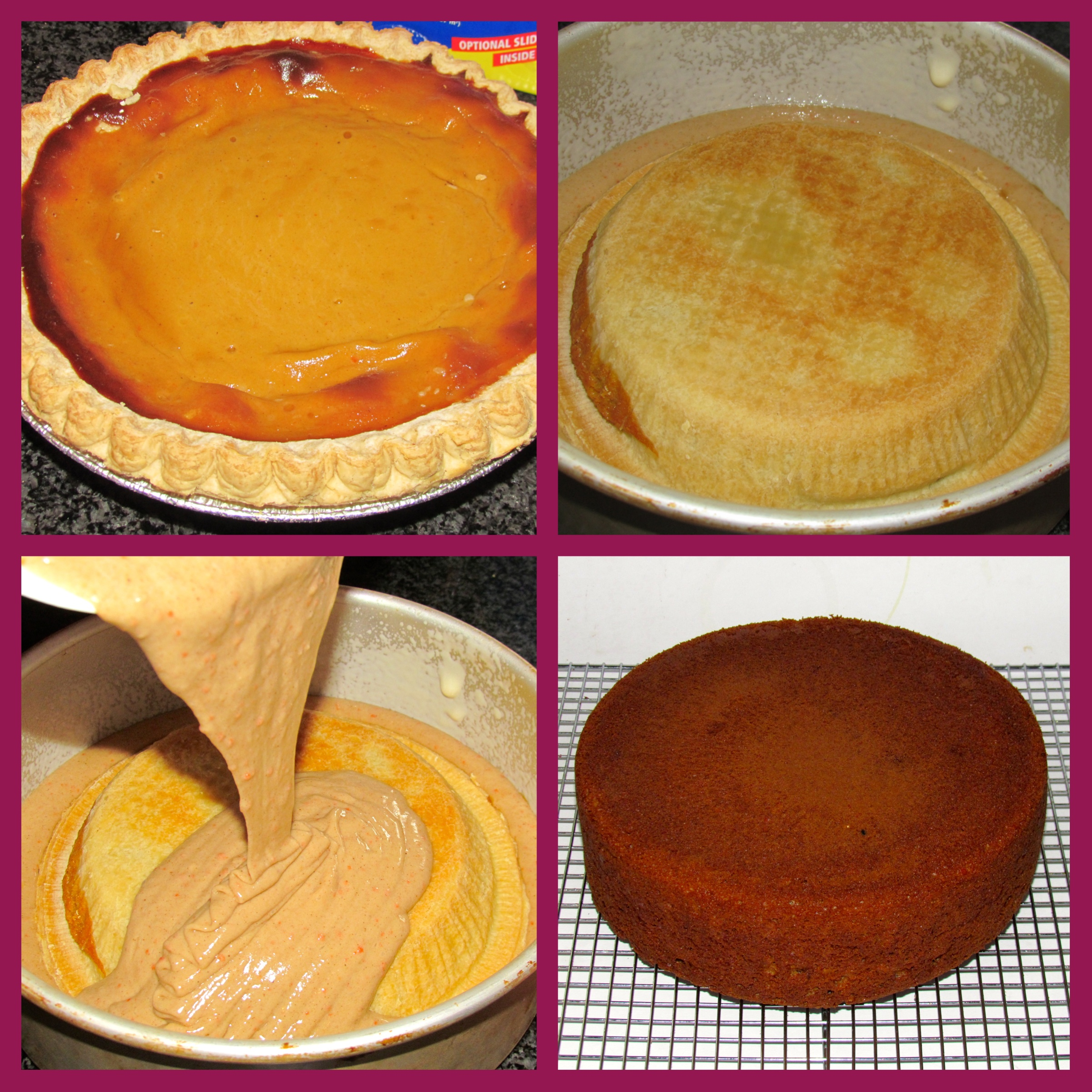 Cake With Icing Baked Inside : pumpkincarrot